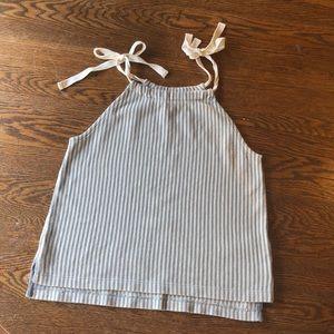 Madewell Striped Tie Tank Top